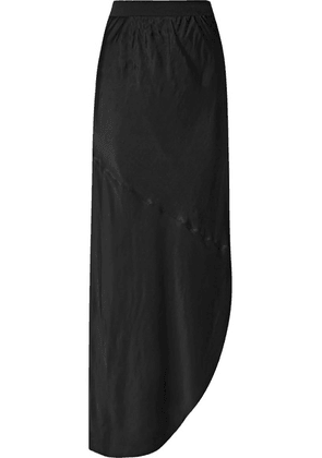 By Malene Birger - Aliviay Asymmetric Crepe De Chine Maxi Skirt - Black