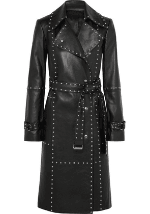 Helmut Lang - Studded Leather Trench Coat - Black