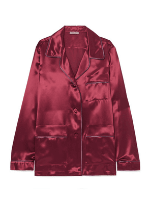 Bottega Veneta - Satin Shirt - Crimson