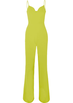 Brandon Maxwell - Stretch-crepe Jumpsuit - Yellow