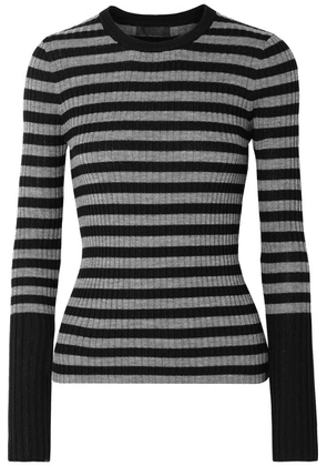 ATM Anthony Thomas Melillo - Striped Ribbed Merino Wool Sweater - Black