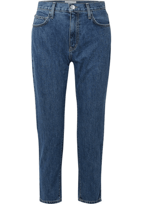 Current/Elliott - Cropped High-rise Slim-leg Jeans - Mid denim