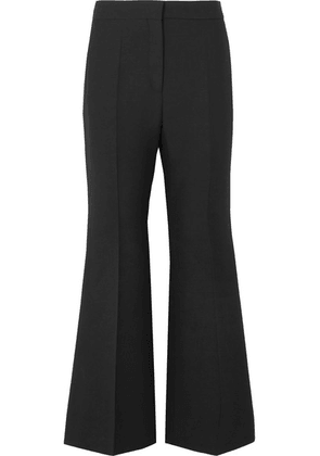 Valentino - Wool And Silk-blend Crepe Cropped Wide-leg Pants - Black