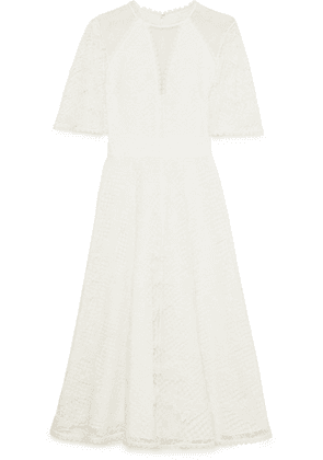 Temperley London - Haze Guipure Lace And Tulle Midi Dress - White