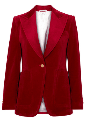 Gucci - Cotton-blend Velvet Blazer - Claret