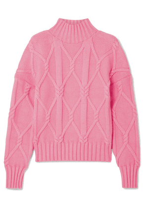 J.Crew - Tucker Cable-knit Cotton-blend Sweater - Pink