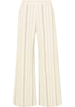 See By Chloé - Pinstriped Cotton-blend Wide-leg Pants - Ivory