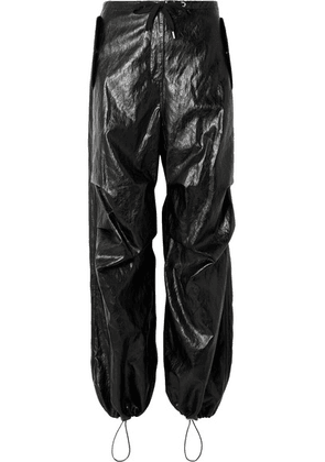 T by Alexander Wang - Faux Leather Pants - Black