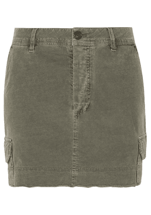 James Perse - Stretch-cotton Mini Skirt - Gray