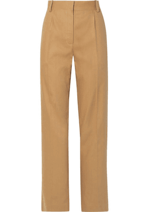 The Row - Thea Linen And Cotton-blend Pants - Sand