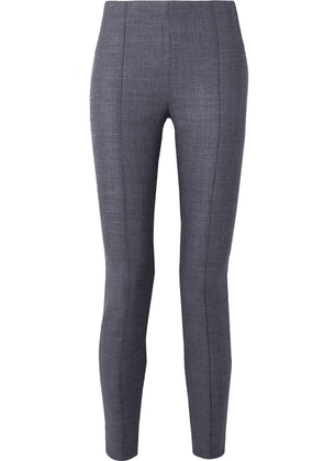 The Row - Cosso Stretch Wool-blend Skinny Pants - Blue