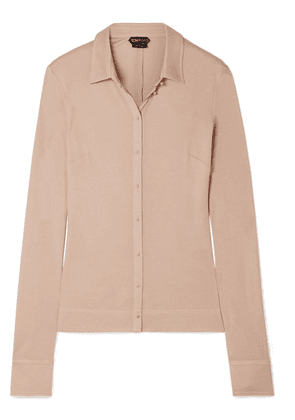 TOM FORD - Stretch-jersey Shirt - Beige