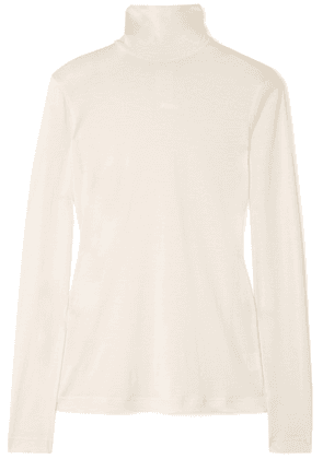 Akris - Cashmere And Silk-blend Turtleneck Sweater - White
