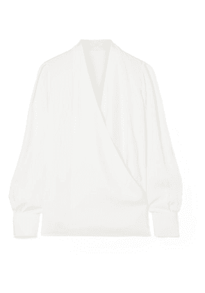 Givenchy - Wrap-effect Crepe Blouse - Ivory