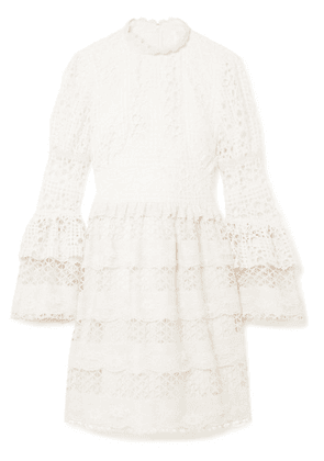 Anna Sui - Dew Drop & Trellis Guipure Lace Mini Dress - Cream