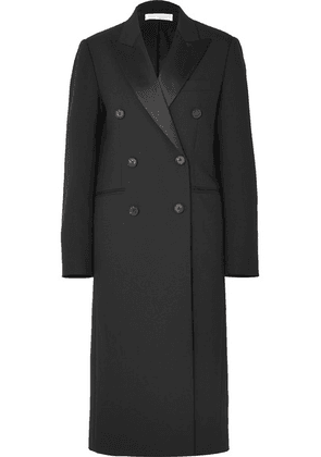 Victoria Beckham - Satin-trimmed Wool And Mohair-blend Coat - Black