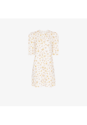 See By Chloé floral print poof sleeve cotton mini dress