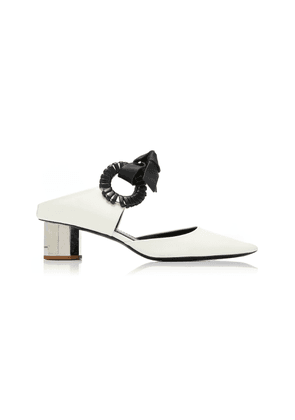Proenza Schouler Grommet-Embellished Leather Mules