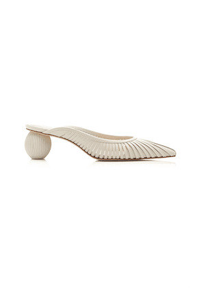 Cult Gaia Alia Cutout Leather Mules
