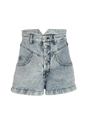 Isabel Marant Roy High-Rise Denim Shorts