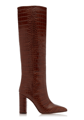 Paris Texas Croc-Embossed Leather Knee Boots