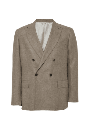 EIDOS Linen-Blend Double-Breasted Jacket
