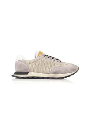 Maison Margiela Dirty Treatment Mesh And Suede Sneakers