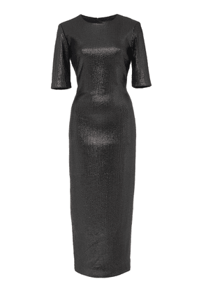 Sally LaPointe Sequin-Embellished T-Shirt Midi Dress