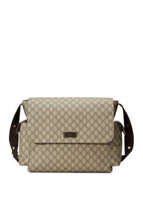Guccissima Faux-Leather Diaper Bag w/ Changing Pad