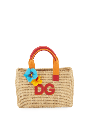Kids' Mare Woven Straw Top-Handle Bag