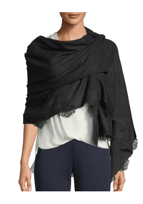 Affair Gaze Lace-Trim Stole