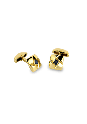 Yellow-Gold Square Knot Cuff Links