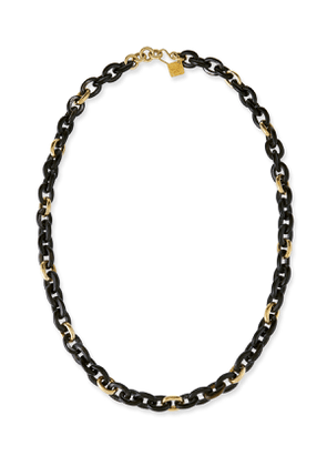 Meli Dark Horn & Bronze Link Necklace