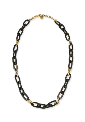 Manjano Dark Horn & Bronze Link Necklace