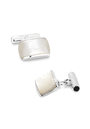 Sterling Silver Cushion Cuff Links with Mother of Pearl