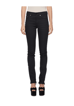 Raw-Edge Slash-Back Skinny Jeans