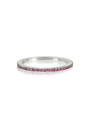 Forzieri Designer Rings, Natural Pink Sapphire Eternity Band Ring