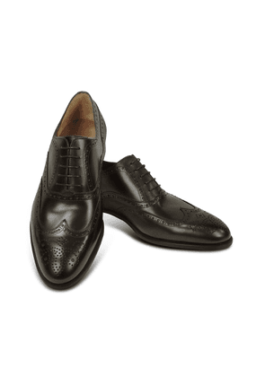Fratelli Rossetti Designer Shoes, Dark Brown Calf Leather Wingtip Oxford Shoes