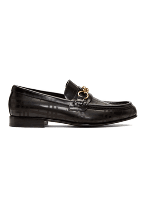 Burberry Black Perforated Moorley Loafers