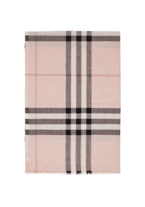 Burberry Pink Silk Giant Check Scarf
