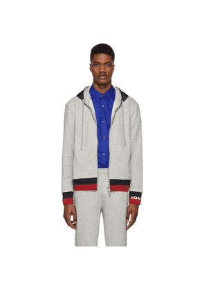 Moncler Grey Striped Hoodie