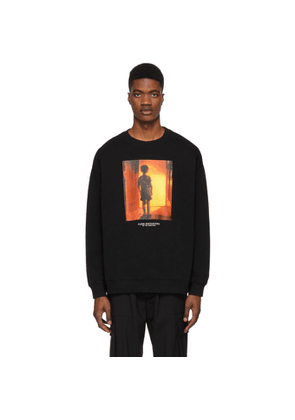 Marcelo Burlon County of Milan Black Close Encounters Of The Third Kind Edition Child Over Sweatshirt
