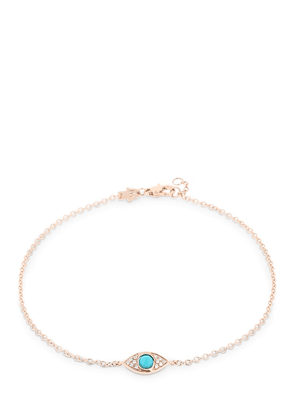 Protected Big Eye Rose Gold Anklet