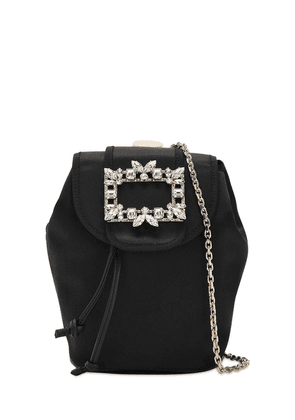Trianon Mini Satin Backpack W/ Crystals