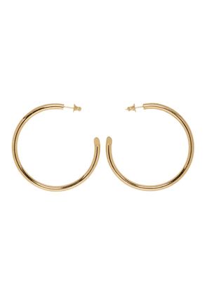 Undercover Gold Careering Edition Hoop Earrings