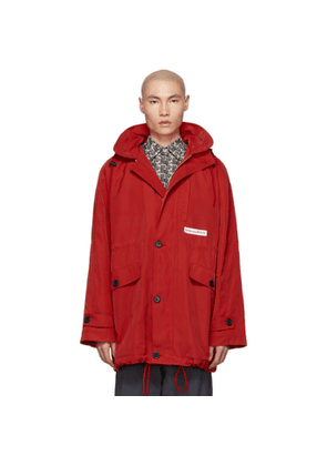 Martine Rose Red Sports Parka