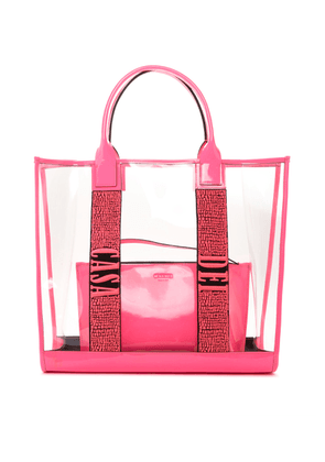 Casadei Bags Women - Shopping Bag Logomania Pink Glass and Patent Leather U