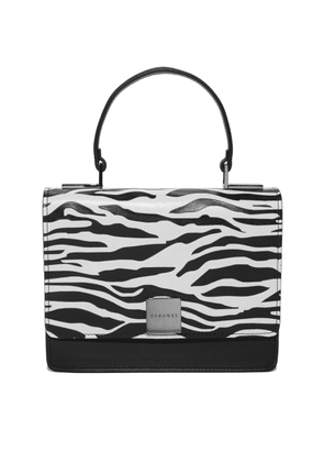 Casadei Bags Women - Pochette Madagascar Black and White Zebra Effect Printed Leather U