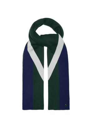 Charlotte Simone - Striped Wool And Cashmere Blend Scarf - Womens - Green
