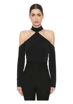 Cady Cut Out Wool Crop Top